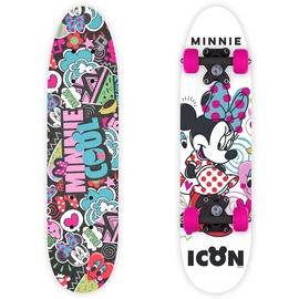 Скейтборд Disney Minnie, белый/черный/розовый