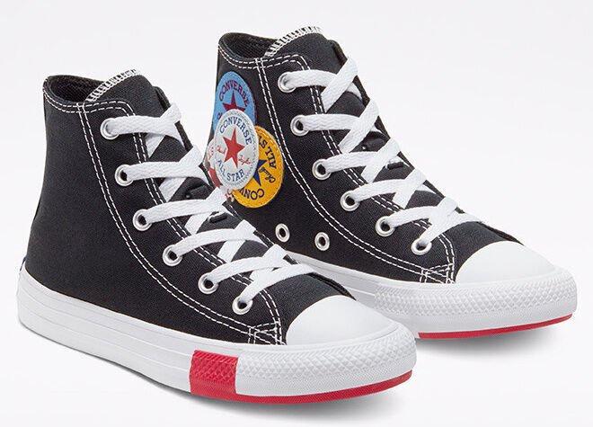 Converse Chuck Taylor All Star Junior Hi Top 366988C Black 28.5