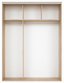 Black Red White Wardrobe Frame Nadir 180 Light San Remo Oak