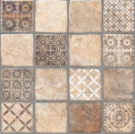 Keramin Carthage 3D 400x400mm Brown/Beige