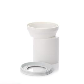 WC ÜHENDUS EKSENTRIK 110 155MM VALGE