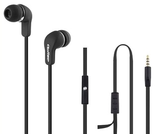 Qoltec In-Ear Headphones w/Microphone Black
