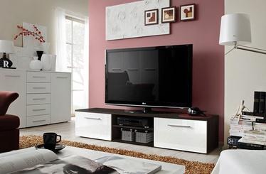 ТВ стол ASM Bono II Wenge/White Gloss, 1800x450x350 мм