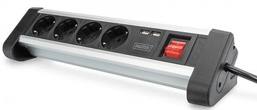 Digitus 4-Way Fffice Socket Strip With 2xUSB Ports