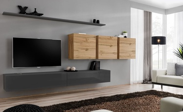 ASM Switch VII Wall Unit Graphite/Wotan Oak