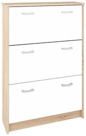 Шкаф для обуви ML Meble Mag II White, 820x250x1200 мм