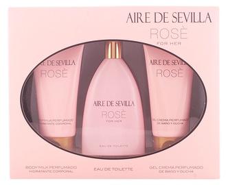 Набор для женщин Instituto Español Aire De Sevilla Rose 150 ml EDT + 150 ml Body Milk + 150 ml Shower Gel