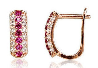Diamond Sky 14K Red Gold Earrings Benedict II