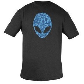Alienware Ultramodern Alien Puzzle Head Gaming Gear T-shirt M