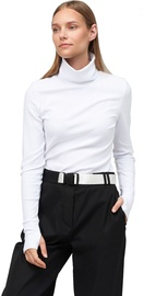 Audimas Cotton Long Sleeve Roll Neck Top White L