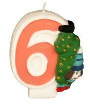Pap Star Clown Candle Number 6