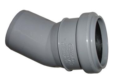 Põlv Wavin 50 mm, 30°, PVC, hall