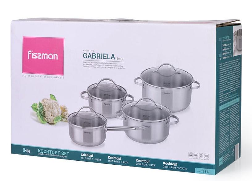 Fissman Gabriela Cookware Set with Glass Lids 4pcs