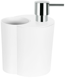 Spirella Soap Dispenser With Glass Sun&Moon White