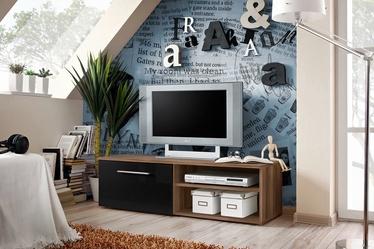 ТВ стол ASM Bono I Plum/Black Gloss, 1200x450x350 мм