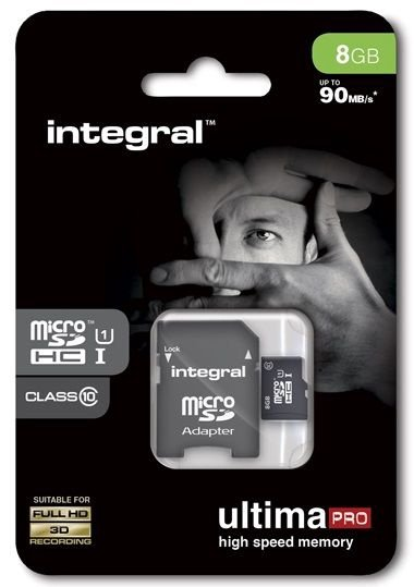 Integral Ultima Pro 8GB Micro SDHC UHS-1 Cl10