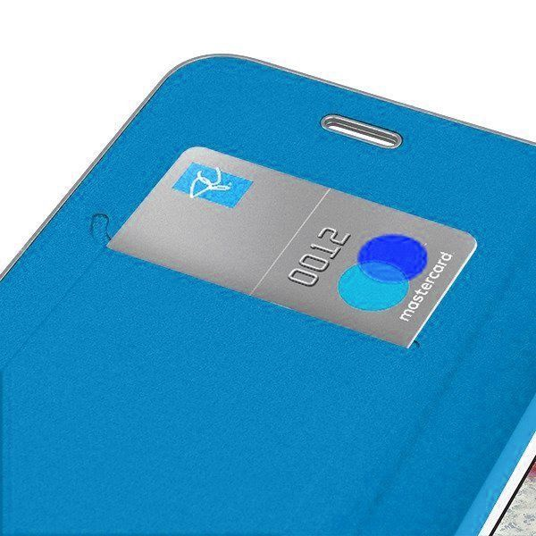 Mocco Carbon Leather Book Case For Huawei P30 Lite Blue