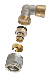 """Torupõlv 90° TDM Brass 1475E, 3/4""""x18mm, avatav"""