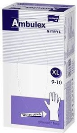 Matopat Ambulex Nitryl Powder Free Gloves XL White 100pcs