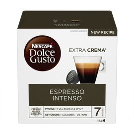 Kohvikapslid Nescafe Dolce Gusto Espresso Intenso, 128 g., 16 tk.