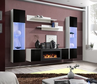 ASM Fly M3 Living Room Wall Unit Set Black/White