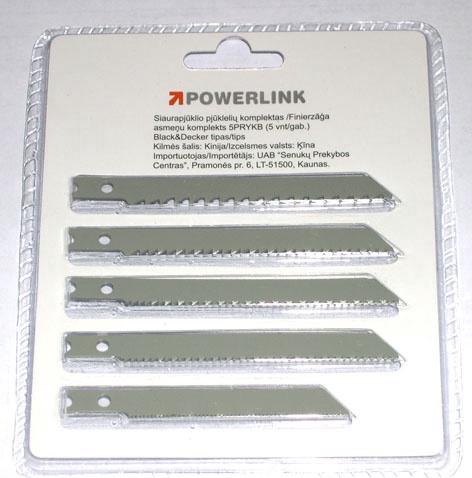 SN Powerlink Jigsaw Blades 5PKYKB Wood 5pcs
