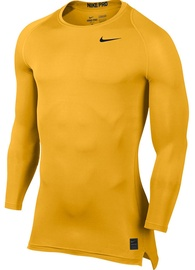 Nike Men's Pro Cool Compression LS Top 703088 739 Yellow M