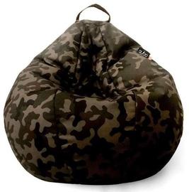 Кресло-мешок Qubo Comfort 80, коричневый/черный/зеленый, 150 л