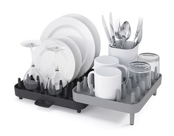 Joseph & Joseph Connect Adjustable 3 Piece Dishrack Grey