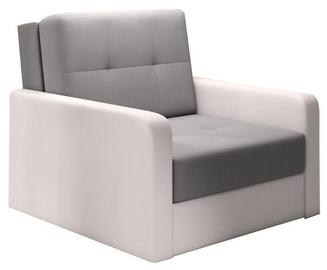 Диван-кровать Idzczak Meble Top 1 Bahama 31 Gray/Soft 17 White, 104 x 104 x 92 см