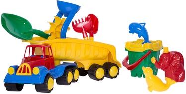Liivakasti mänguasjade komplekt 4IQ Truck & Sand Castle