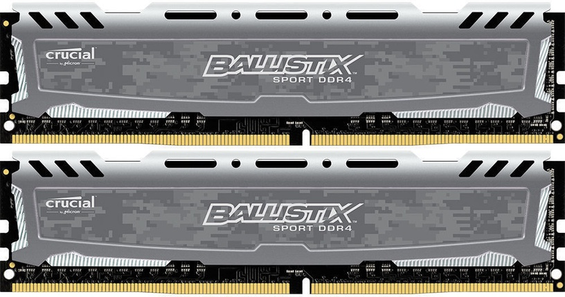 CRUCIAL Ballistix Sport LT Gray 16GB 2400MHz CL16 DDR4 KIT OF 2 BLS2C8G4D240FSBK
