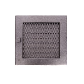 NORDFlam Grate With Blinds 170x170mm Black