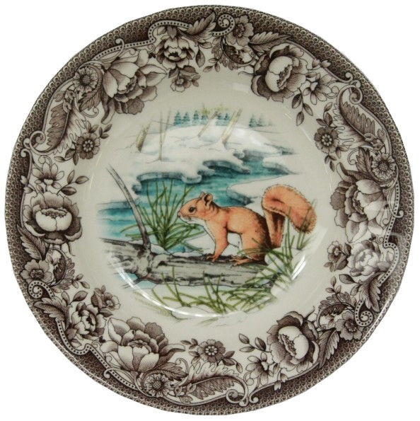 Claytan Haydon Grove Squirrel Deep Plate 23.3cm