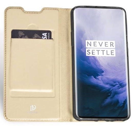 Dux Ducis Skin Pro Bookcase For OnePlus 7 Pro Gold