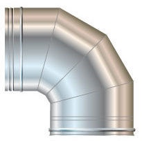 Cordivari Chimney Elbow 90° D80