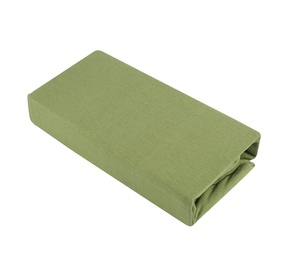 Voodilina Okko Jersey 125GSM Green, 180x200 cm, kummiga
