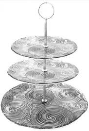 Dekor Cam Vortex Cake Stand Silver