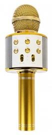 Kuld karaoke mikrofon - hääle vahetamise efektidega kõlar WS-858