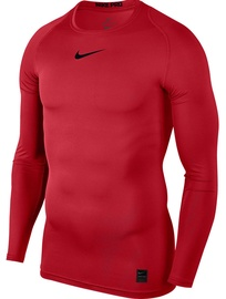 Nike Men's T-shirt Pro Top Compression LS 838077 657 Red XL