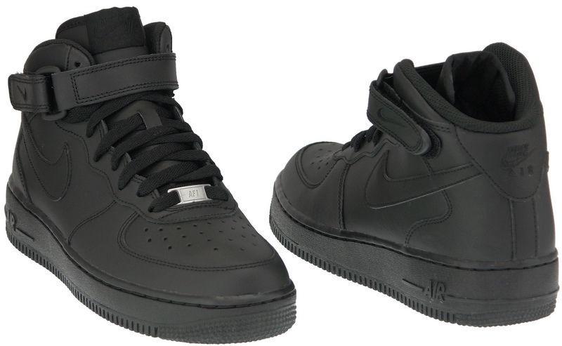 Nike Sneakers Air Force 1 MID Gs 314195-004 Black 36
