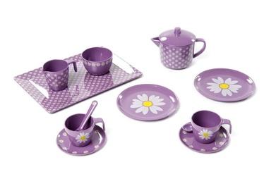 SmallStuff Doll Tea Set Purple
