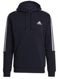 Adidas Essentials Fleece 3 Stripes Hoodie GK9584 Blue L