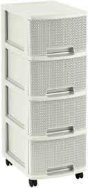 Curver Knit Chest 4x10L White