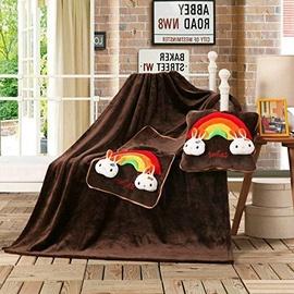 Одеяло DecoKing Cuties Brown Smiles, 110x160 см