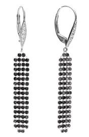 Diamond Sky Earrings With Crystals From Swarowski Jennifer IV Silver Night