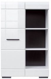 Black Red White Bookshelf Fever RED1D/12/8 White/Black