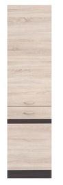 Кухонный шкаф Black Red White Right Junona Line D2D/50/195P Wenge Oak/Sonoma Oak, 500x570x1950 мм