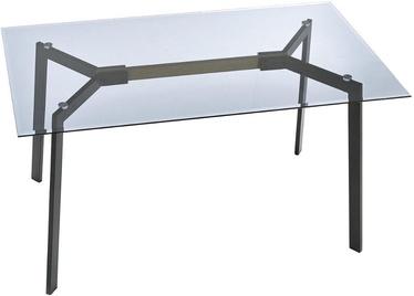 Обеденный стол Halmar Trax Smoked/Black, 1400x800x750 мм