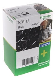 Schneider Electric Cable Clamps 8-12 Black 100pcs